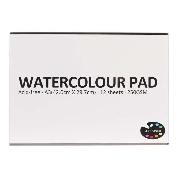 Art Saver A3 250 gsm 12 Sheet Watercolour Pad
