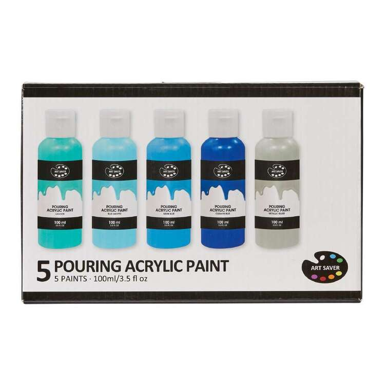 Art Saver 5 Pack Ocean Pouring Acrylic Paint Set