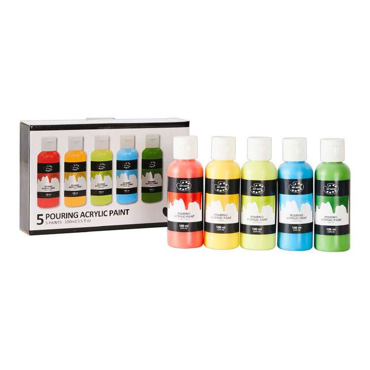 Art Saver 5 Pack Parrot Pouring Acrylic Paint Set