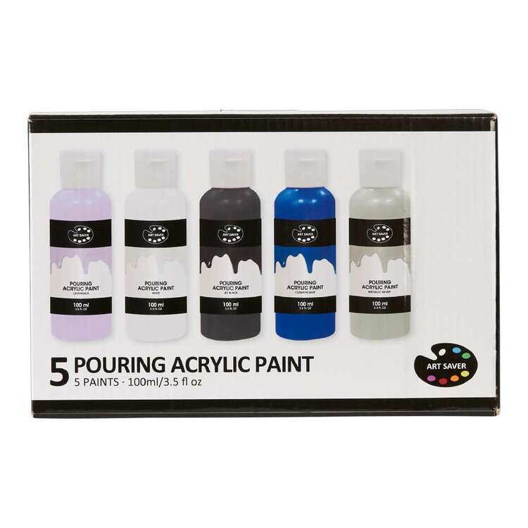 Art Saver 5 Pack Milkyway Pouring Acrylic Paint Set