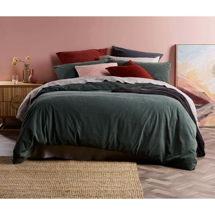 Emerald Hill Polly Corduroy Quilt Cover Set