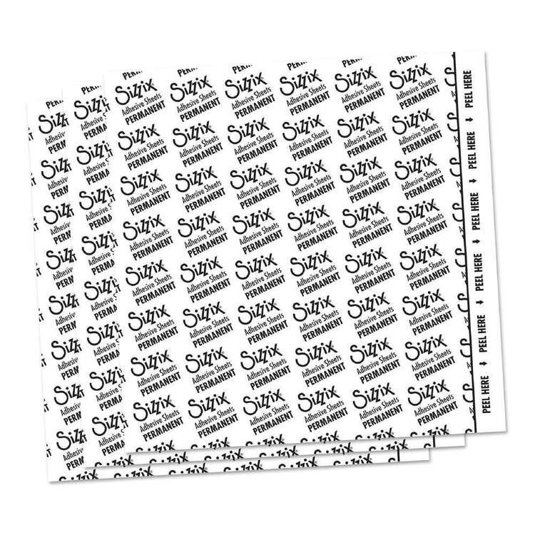 Sizzix 10 Packs Adhesive Permanent Sheets