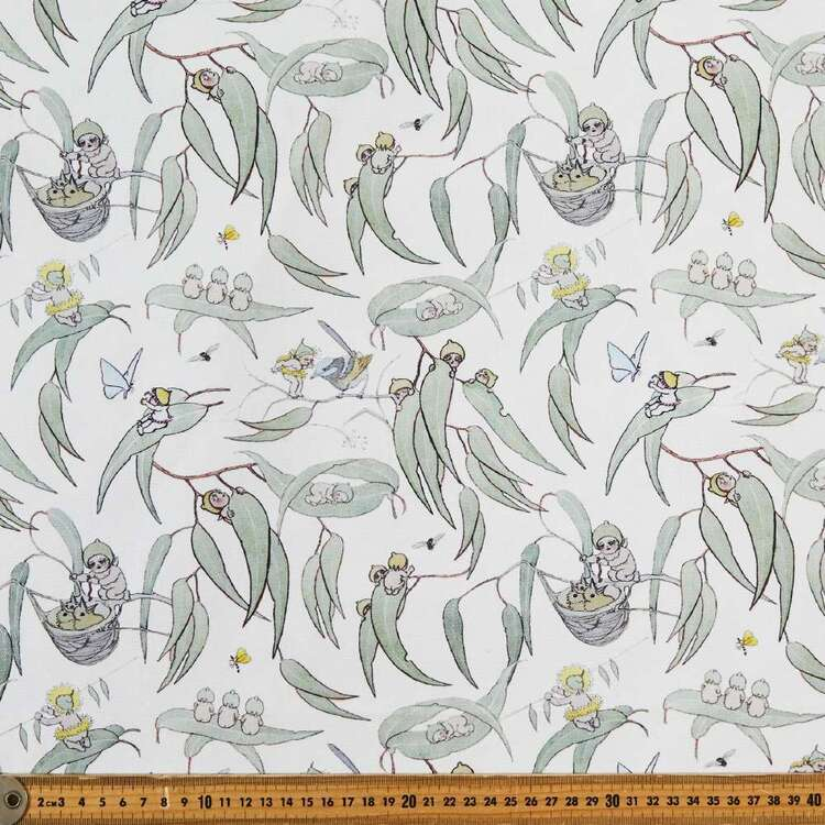 May Gibbs Gumnut Babies 140 cm Cotton Linen Fabric