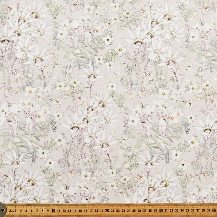 May Gibbs Flannel Flowers 140 cm Cotton Linen Fabric