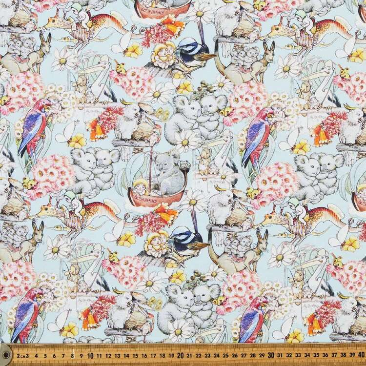 May Gibbs Koala Adventures 140 cm Cotton Linen Fabric