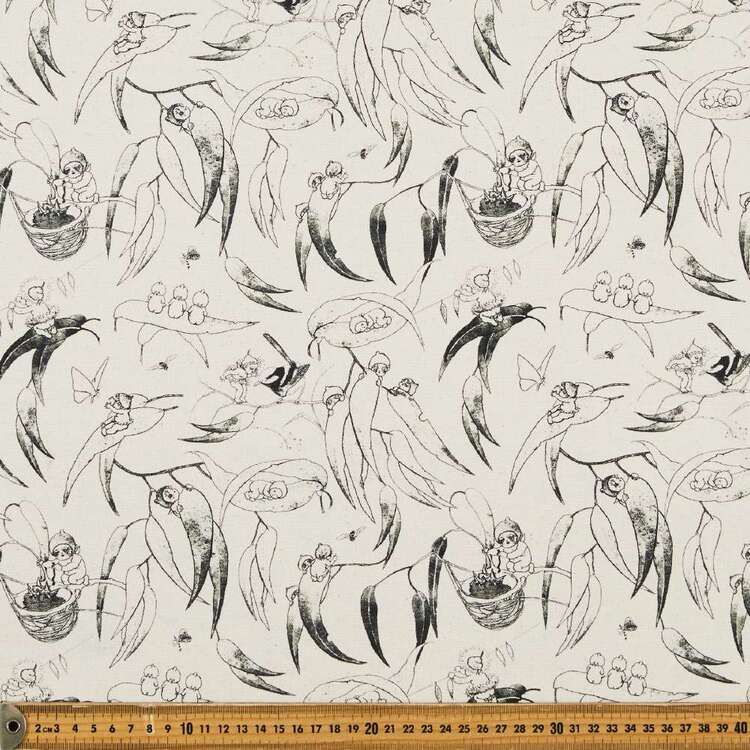 May Gibbs Gumnut Illustration 140 cm Cotton Linen Fabric