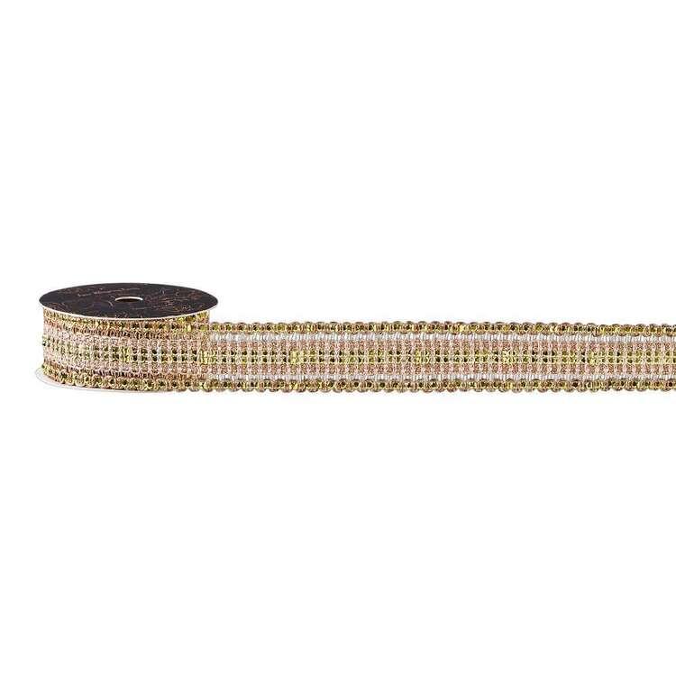 Maria George Luxe Illusions Metallic Knit Braid