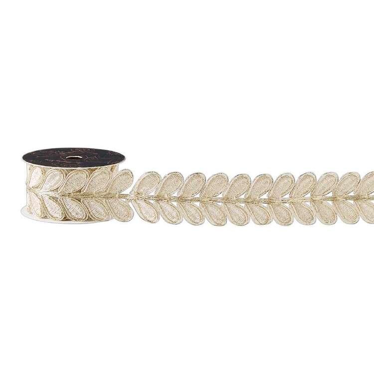 Maria George Luxe Illusions Metallic Vine Leaves Braid