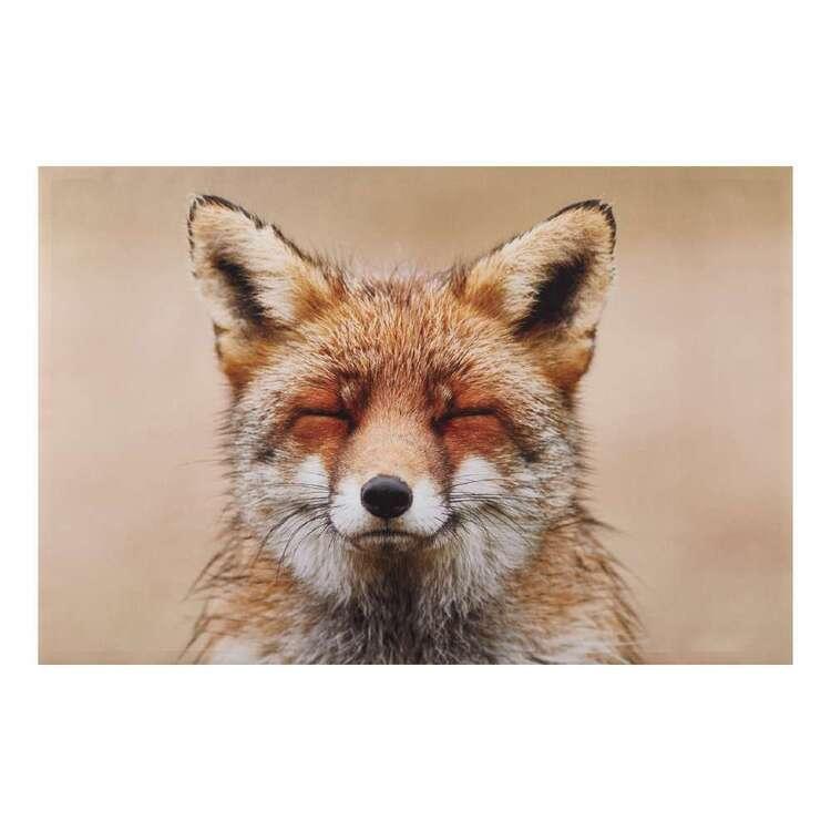 Bouclair Fur Statement Fox Canvas Print