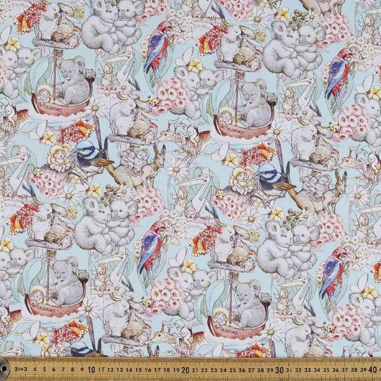 May Gibbs Pelican Tales Organic Cotton Homespun Fabric