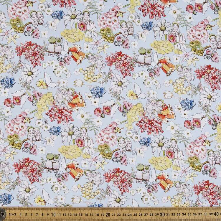 May Gibbs Gumnut Friends Organic Cotton Homespun Fabric