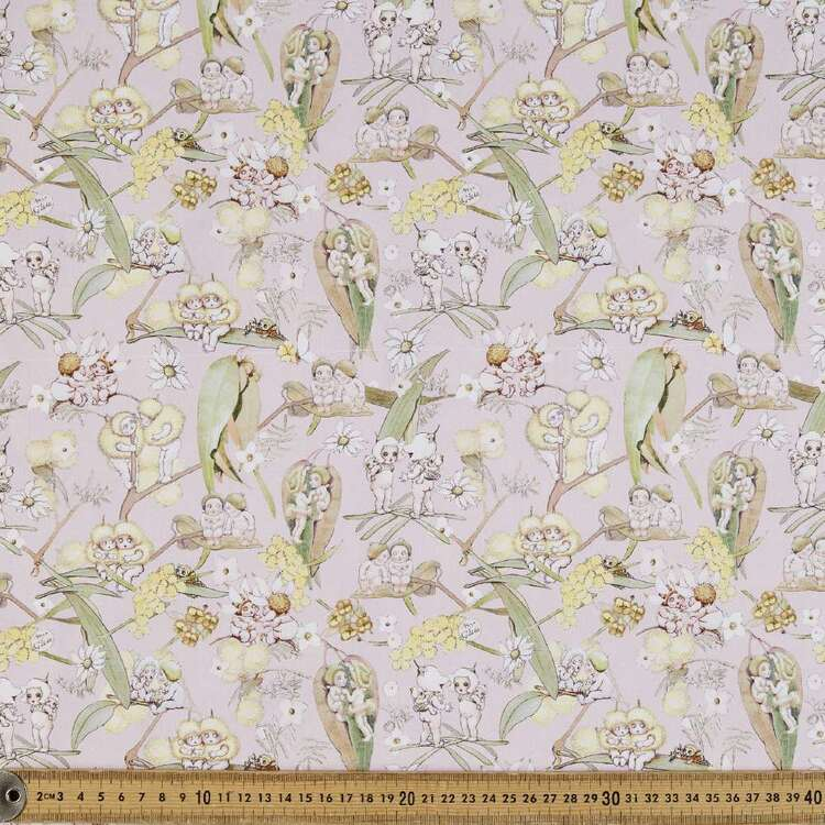 May Gibbs Gossiping Gumnut Organic Cotton Homespun Fabric