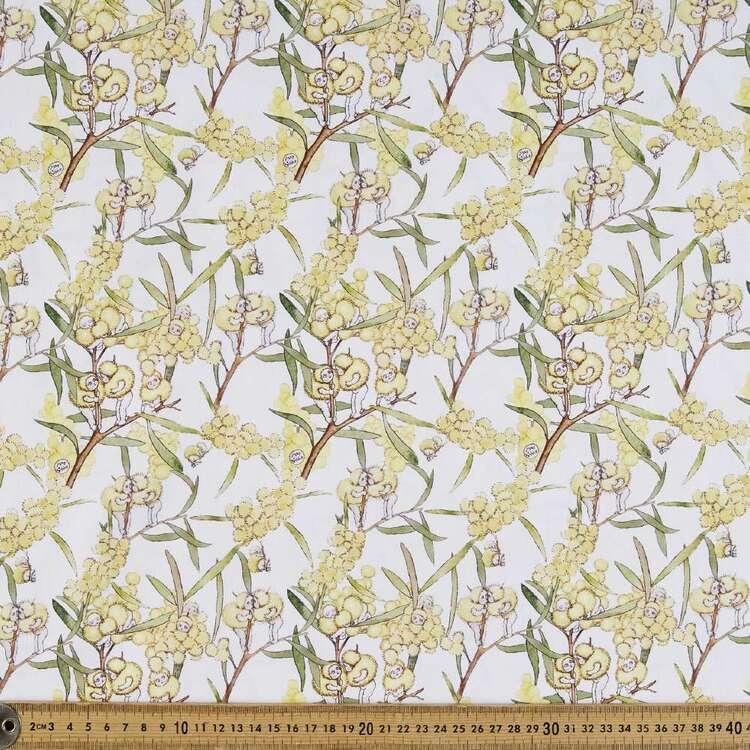 May Gibbs Blossom Babies Organic Cotton Homespun Fabric