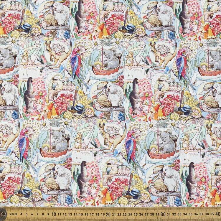May Gibbs Pelican Tales Cotton Spandex Fabric