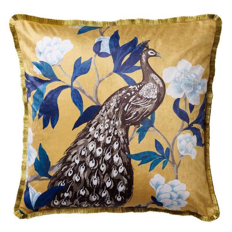 Koo Hana Printed Velvet Cushion