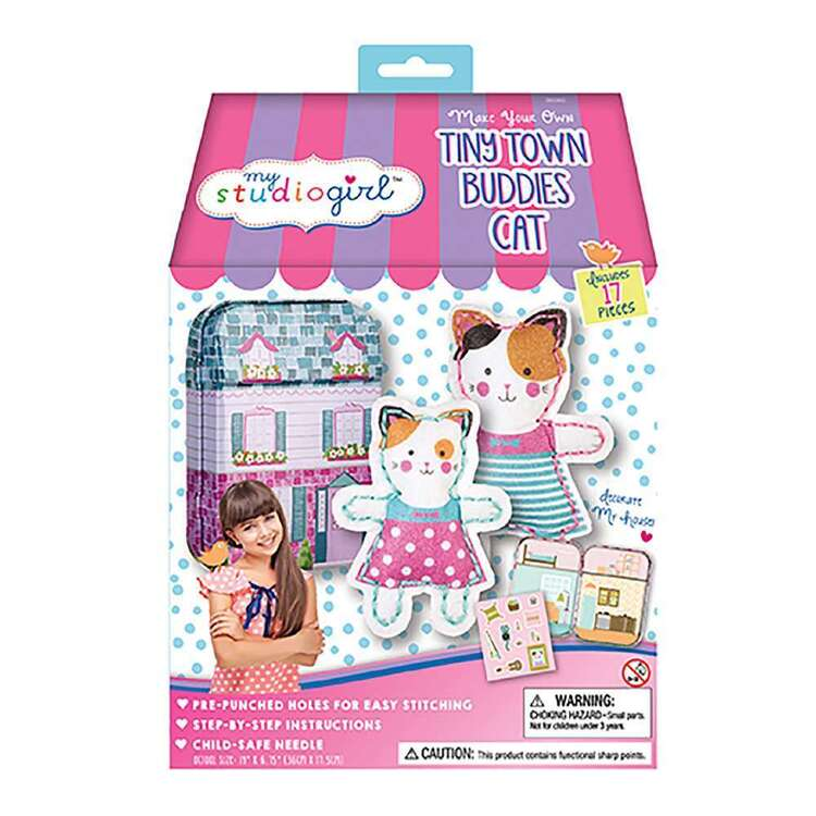 My Studio Girl Tiny Town Buddies Cat Sew Kit