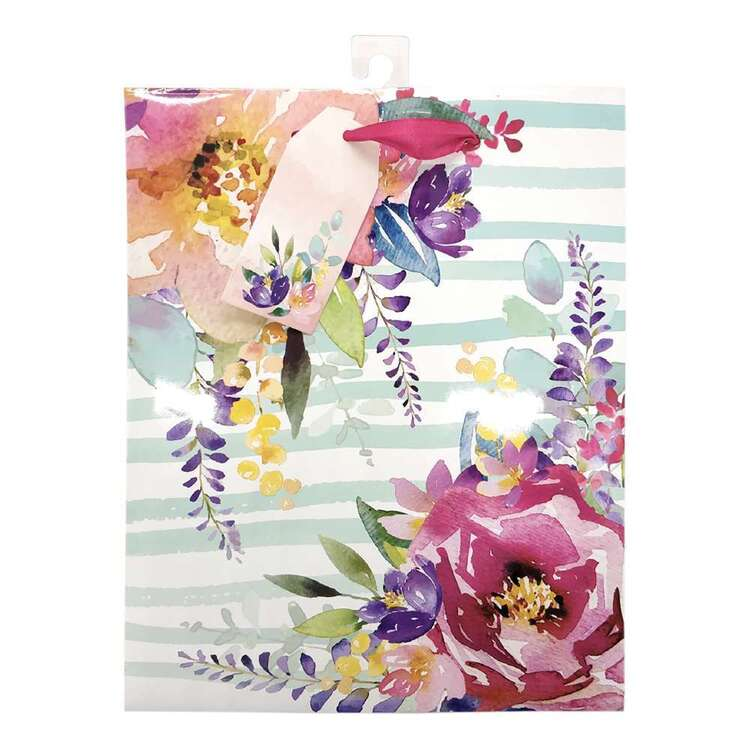 Party Creator Mother's Day Medium Blue Floral Gift Bag