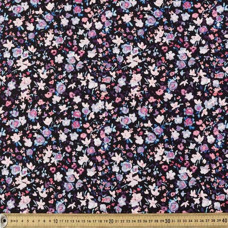 Ditzy Floral Printed 148 cm Rayon Spandex Fabric