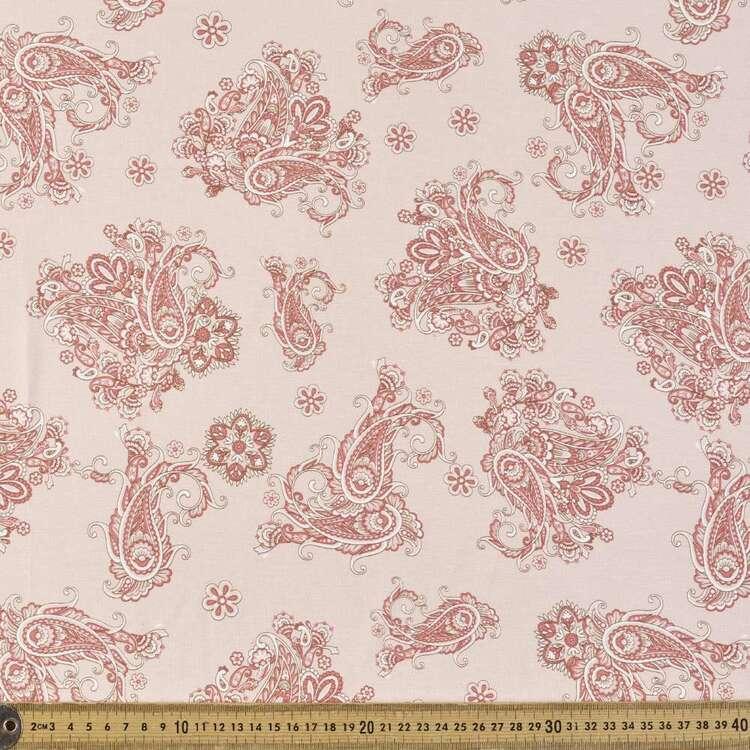 Tossed Paisley Printed 148 cm Rayon Spandex Fabric