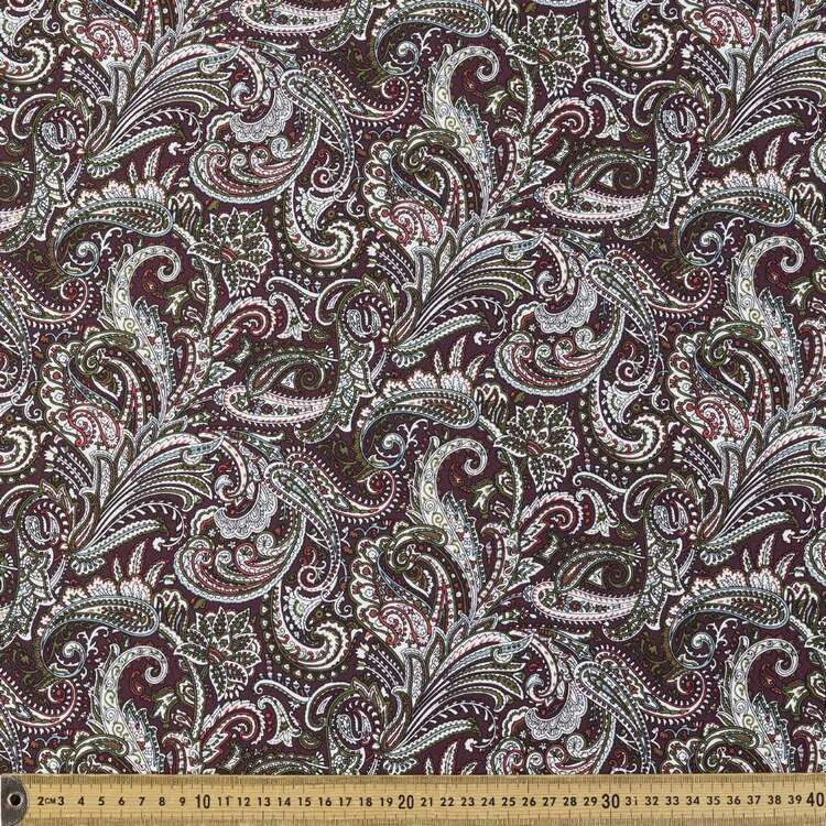 Paisley Printed 148 cm Rayon Spandex Fabric