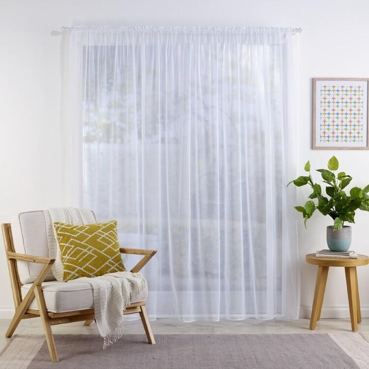 Mode Home Iris Sheer Rod Pocket Curtain