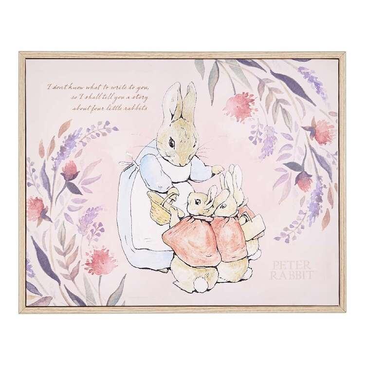 Peter Rabbit Family Framed Canvas Print