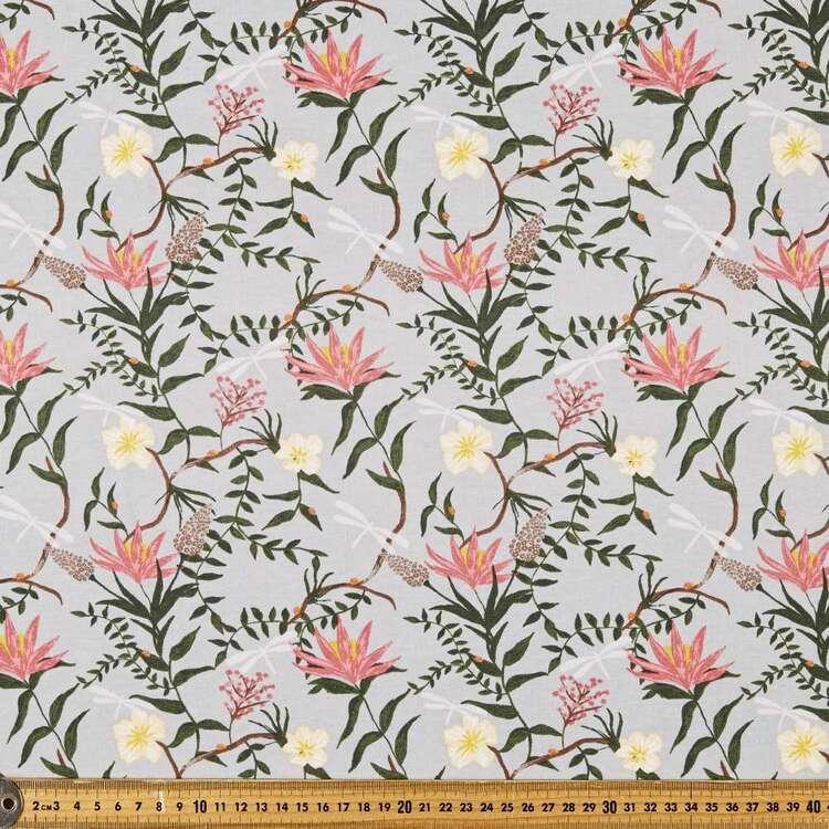 Native Vine Printed 112 cm Organic Cotton Jersey Fabric