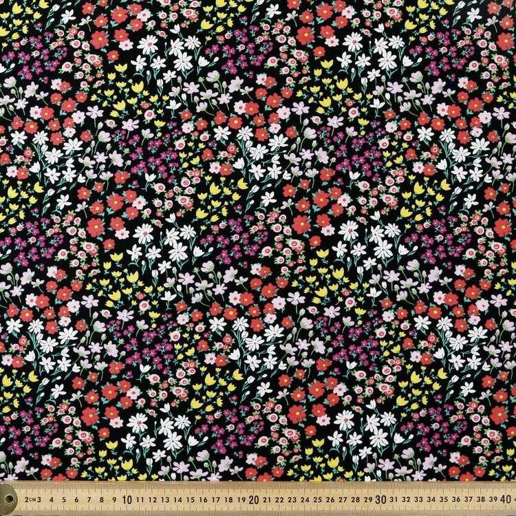Ditzy Garden Printed 112 cm Organic Cotton Jersey Fabric