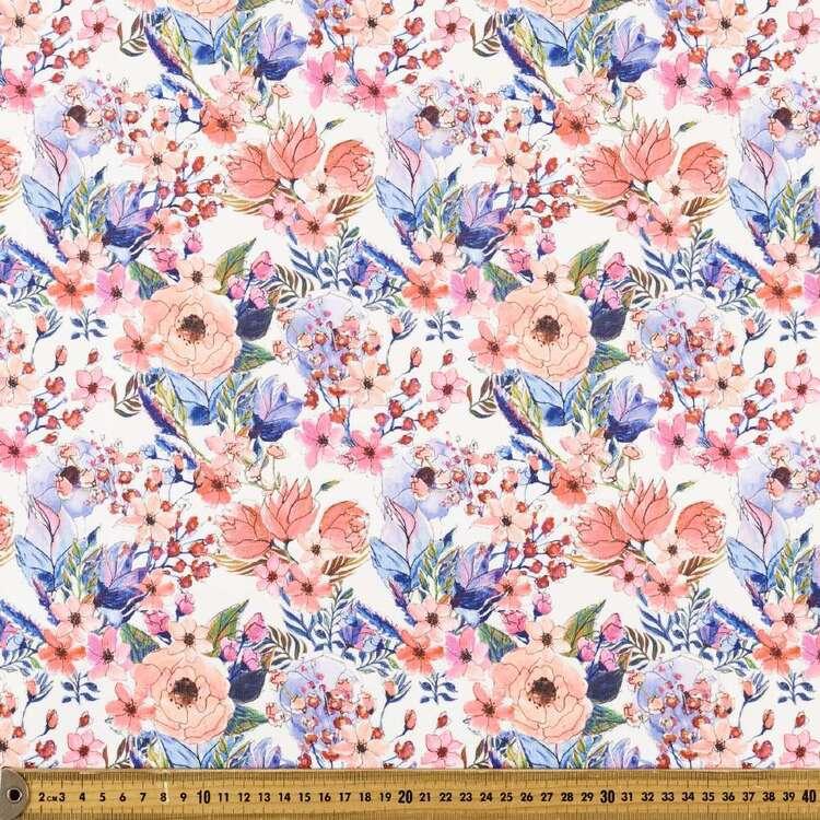 Native Bouquet Printed 148 cm Scuba Knit Fabric