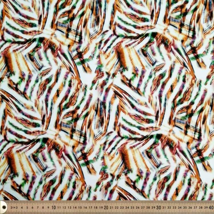 Zebra Stripes Printed 148 cm Scuba Knit Fabric