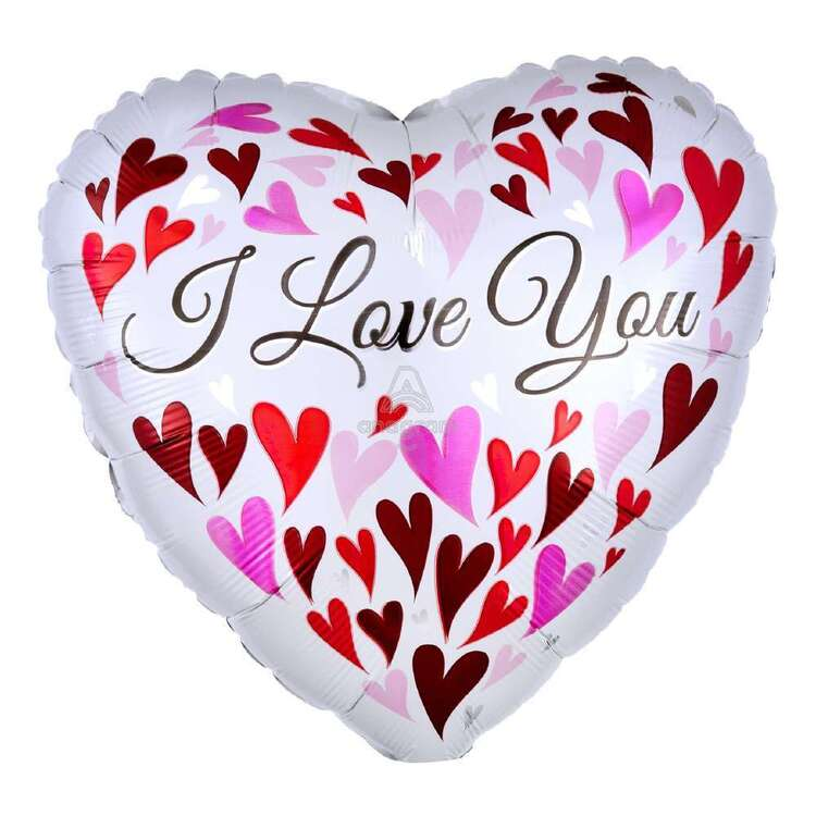 Anagram Love You Hearts Foil Balloon