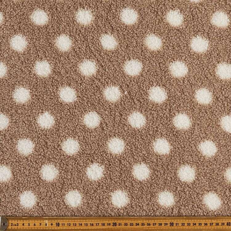 Spot Printed 145 cm Faux Fur Sherpa Fabric