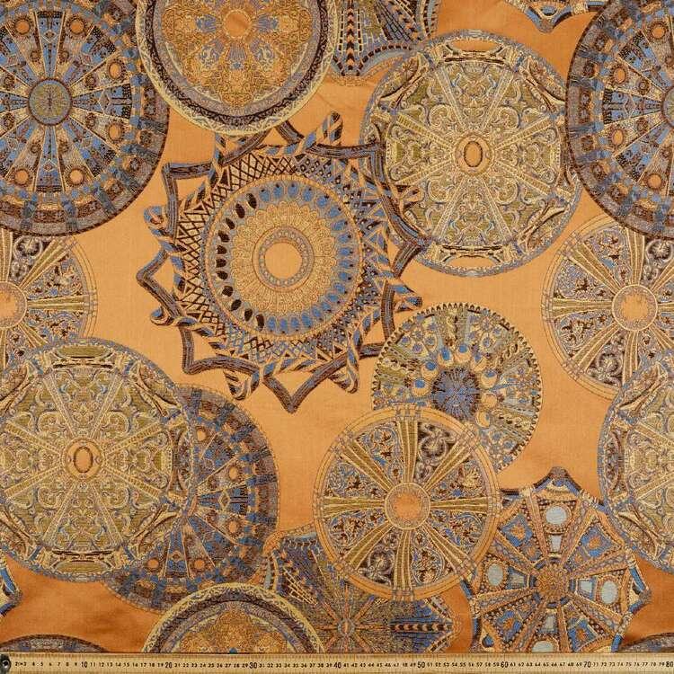Orient Sunset Printed 145 cm Polyester Brocade Fabric