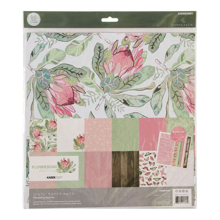 Kaisercraft 12 x 12 in Flowering Natives Paper Pack