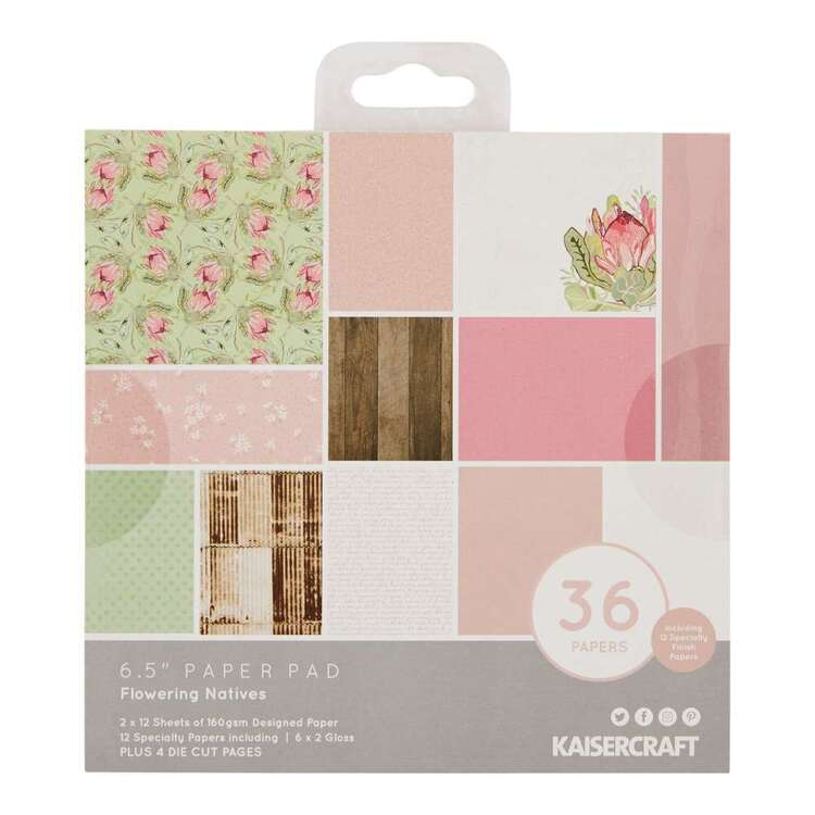 Kaisercraft 6 x 6 in Flowering Natives Paper Pad