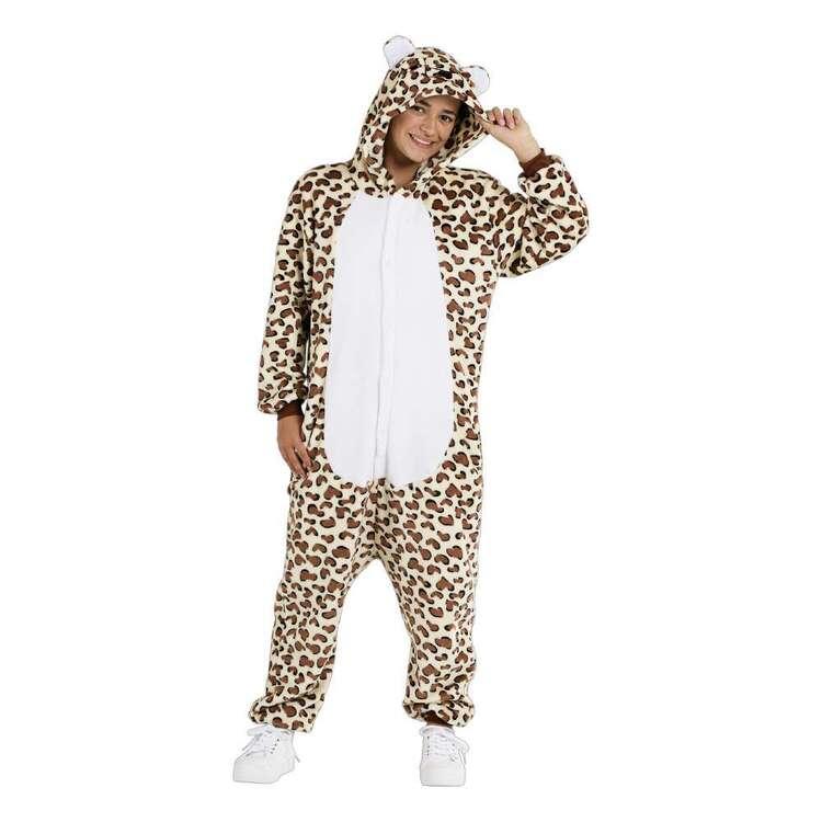Spartys Leopard Plush Adult Onesie