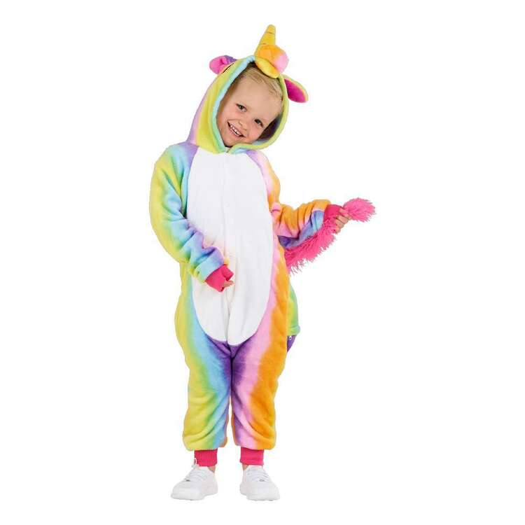 Spartys Rainbow Unicorn Plush Kids Onesie