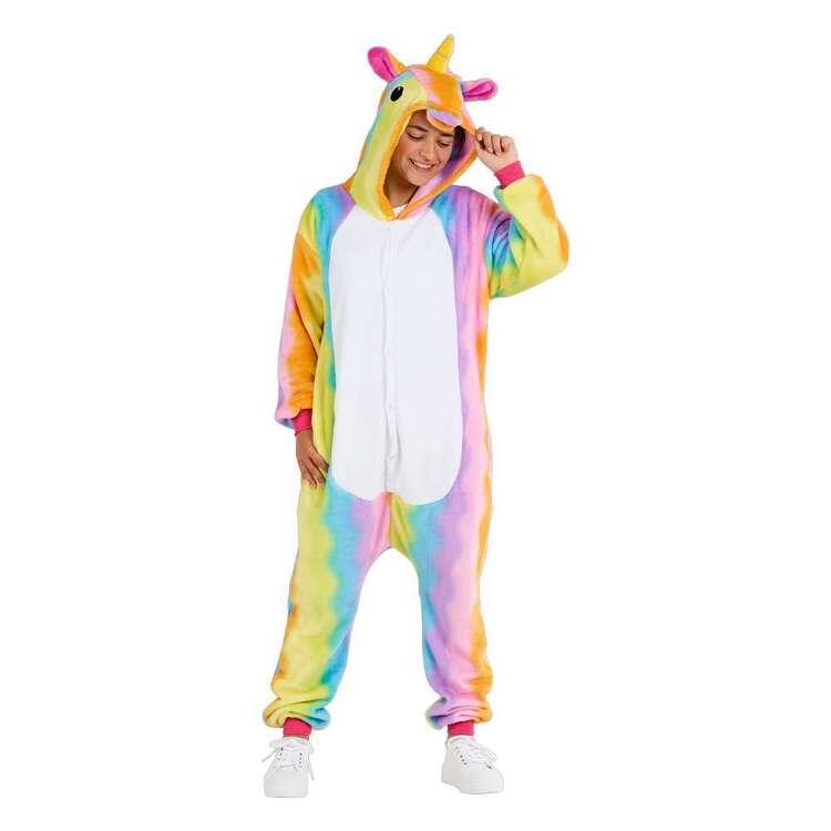 Spartys Rainbow Unicorn Plush Adult Onesie