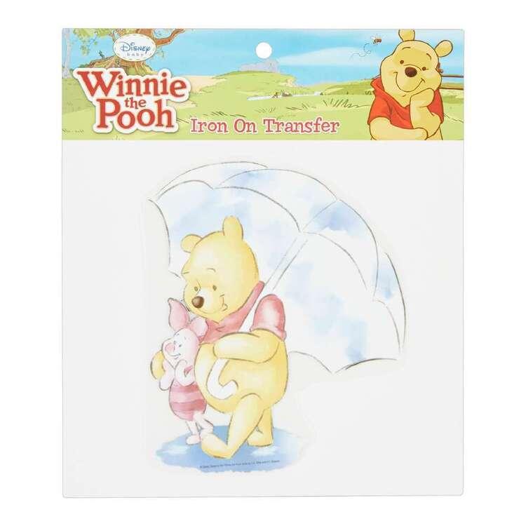 Disney Winnie The Pooh & Piglet Rain Iron On Transfer