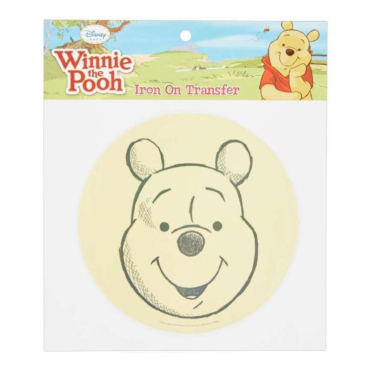 Disney Winnie The Pooh Head Iron On Transfer
