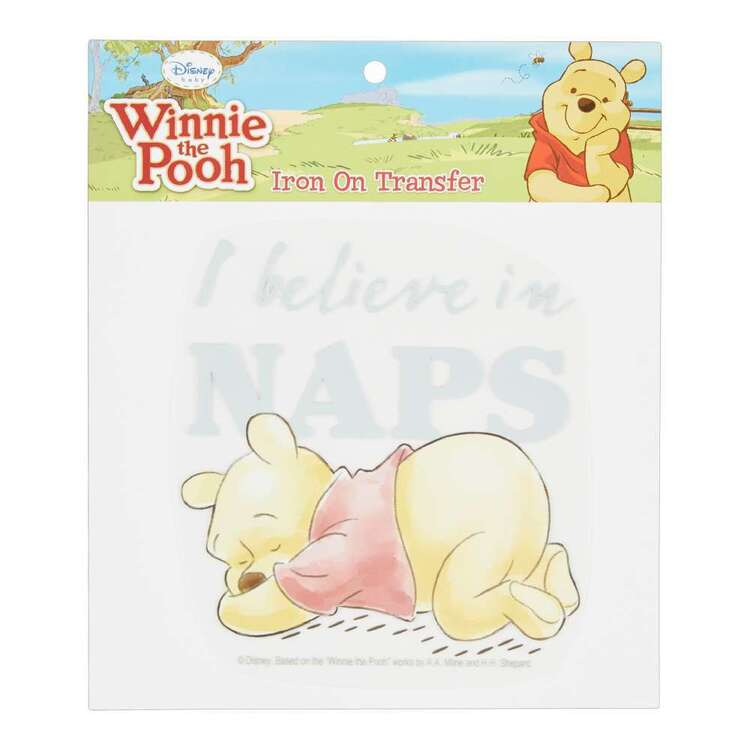 Disney Winnie The Pooh I Believe In Naps Iron On Transfer