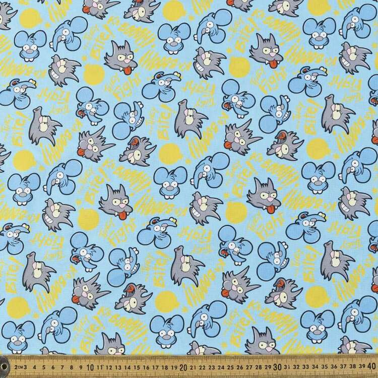 The Simpsons Itchy & Scratchy Cotton Fabric