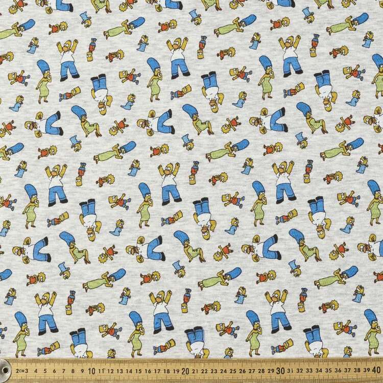 The Simpsons Tossed Family Fleecey Fabric