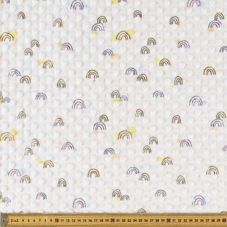 Rainbows Printed Minky Dot 150 cm Nursery Fleece Fabric