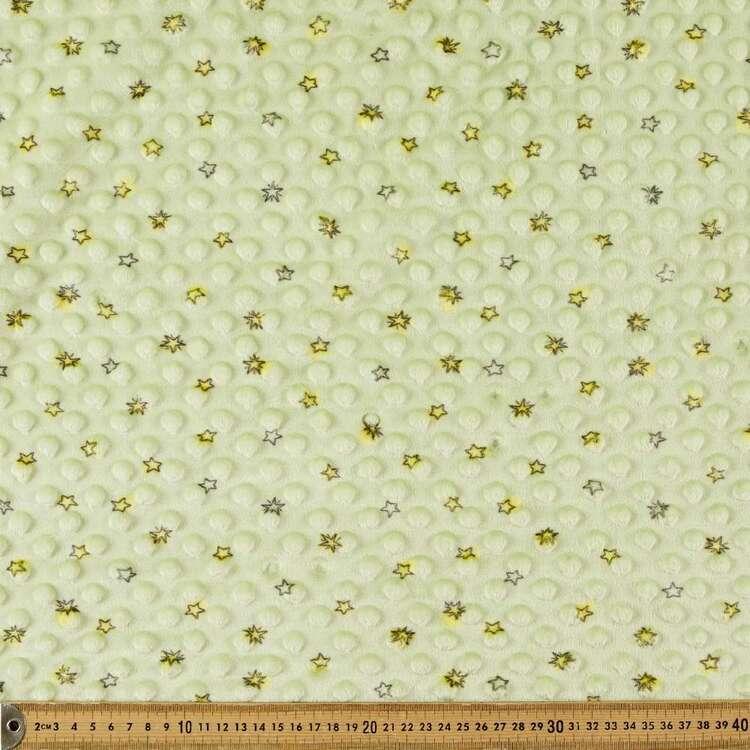 Stars Printed Minky Dot 150 cm Nursery Fleece Fabric