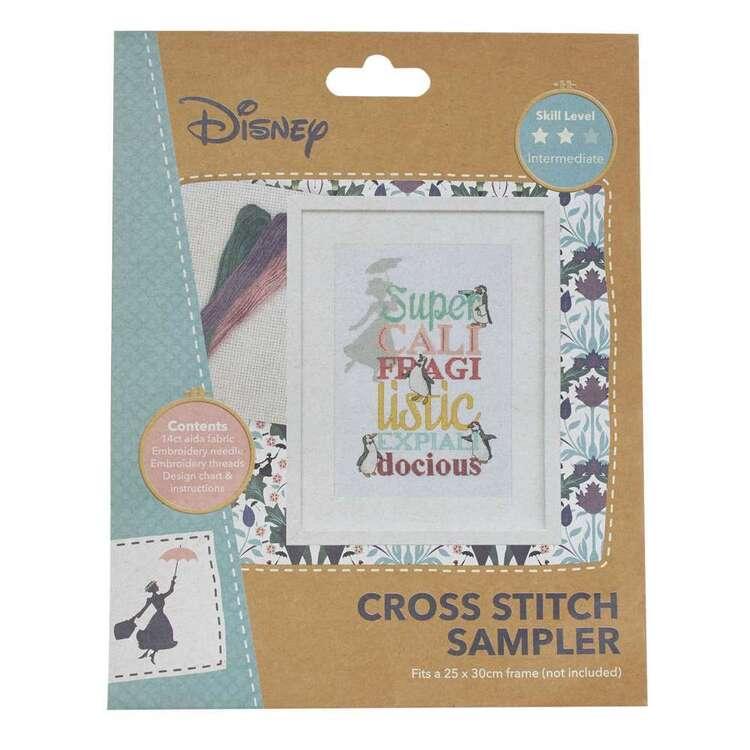 Disney Super Cali Cross Stitch Sampler