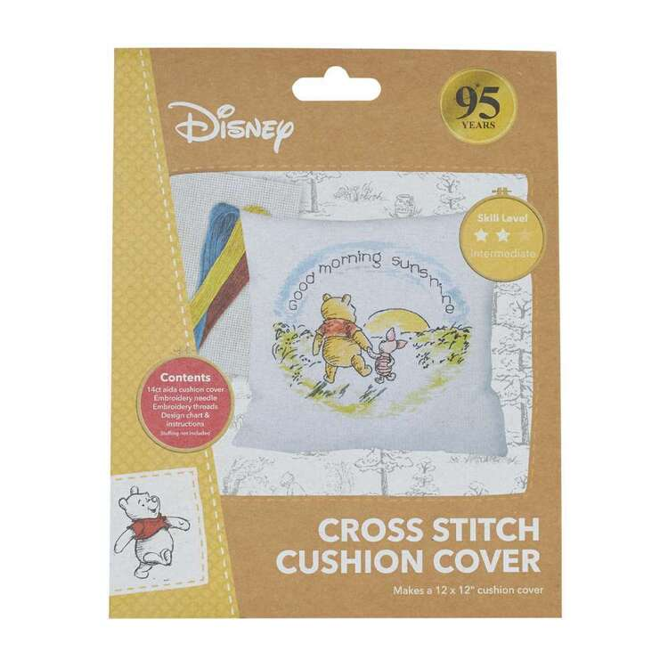 Disney Pooh Cross Stitch Cushion Cover