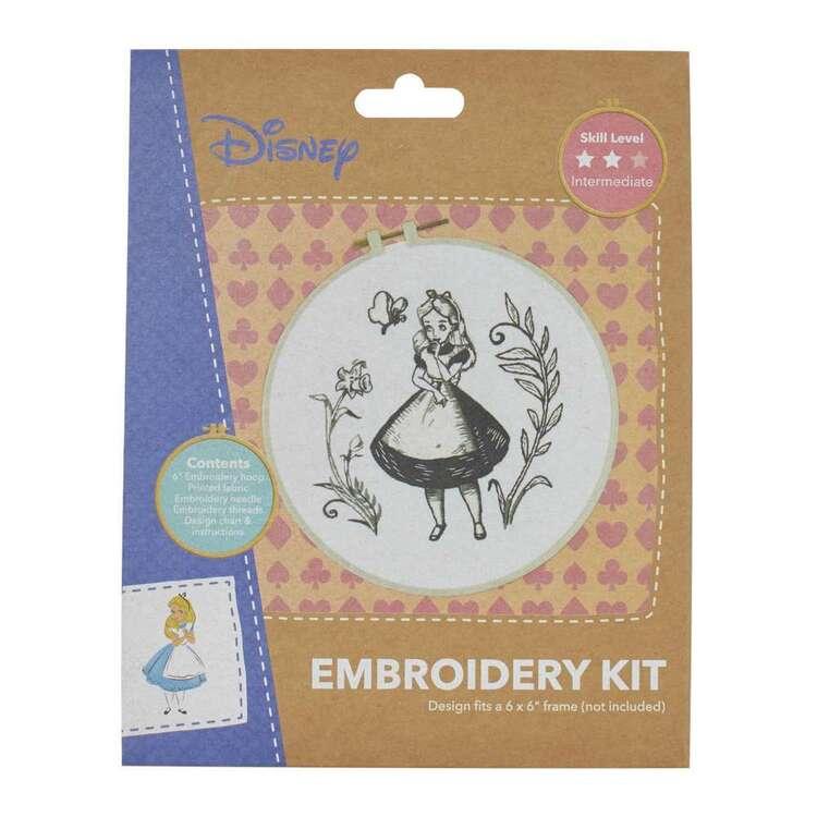 Disney Black & White Alice Embroidery Hopp Kit
