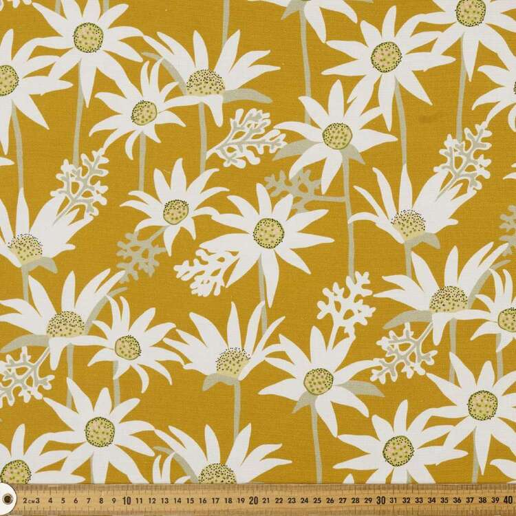 Jocelyn Proust Flannel Flower 150 cm Printed Cotton Canvas Fabric