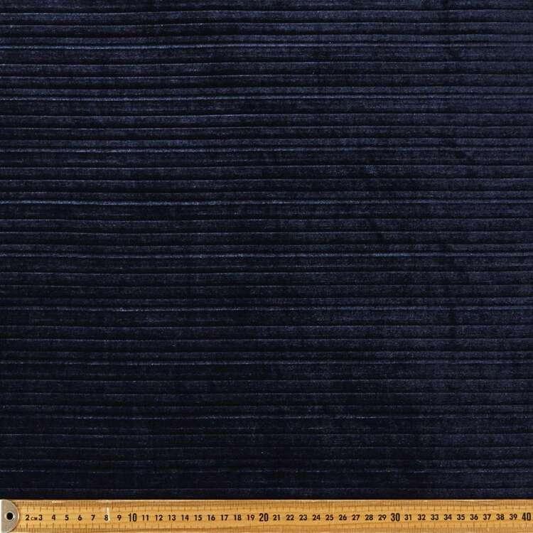 Plain 148 cm Pleated Velvet Fabric